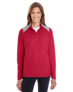 Ladies Command Colorblock Snag Protection Quarter-Zip-Team 365