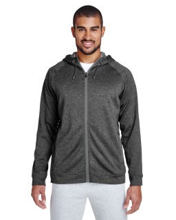 Mens Excel Melange Performance Fleece jacket-Team 365