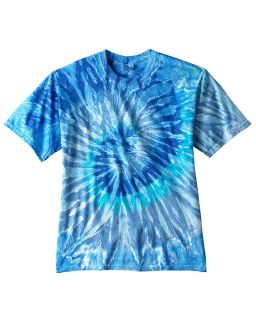 Adult 5.4 Oz., 100&#37<long> Cotton Tie-Dyed T-Shirt