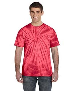 Adult 5.4 Oz., 100&#37<long> Cotton Tie-Dyed T-Shirt - Spider