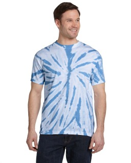Adult 100% Cotton Twist Tie-Dyed T-Shirt-Tie-Dye