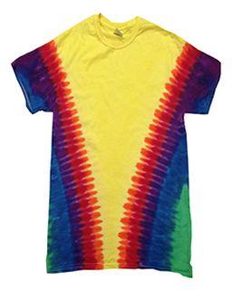 Adult Rainbow Pattern Tie-Dyed Tee-Tie-Dye