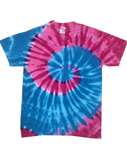 Adult 5.4 Oz., 100&#37<long> Cotton Islands Tie-Dyed T-Shirt