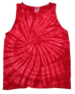 Adult 5.4 Oz., 100&#37<long> Cotton Tie-Dyed Tank