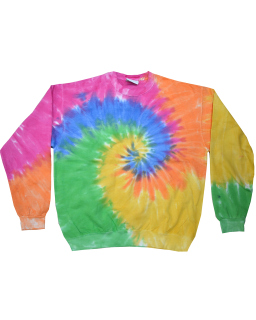 Adult 8.5 Oz., 80/20 Crew Neck Fleece-Tie-Dye