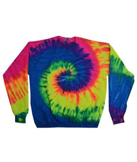 Adult 8.5 Oz., 80/20 Crewneck Fleece-Tie-Dye