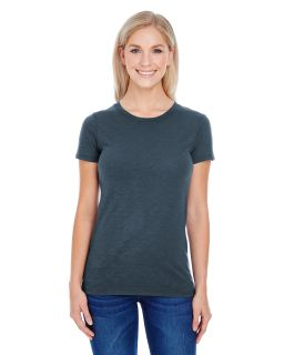 Ladies Slub Jersey Short-Sleeve T-Shirt-Threadfast Apparel