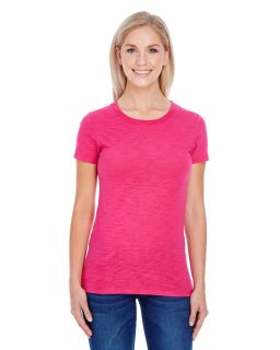 Ladies Slub Jersey Short-Sleeve T-Shirt-