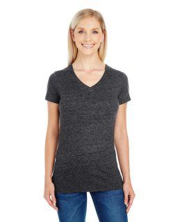 Ladies Triblend Short-Sleeve V-Neck T-Shirt-Threadfast Apparel
