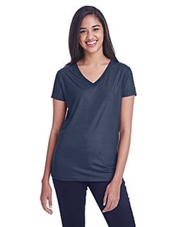 Ladies Liquid Jersey V-Neck T-Shirt