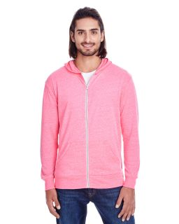 Unisex Triblend Full-Zip Light Hoodie-