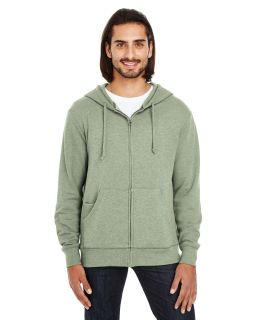 Unisex Triblend French Terry Full-Zip-