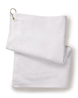 Deluxe hemmed Hand towel With Corner Grommet And Hook-