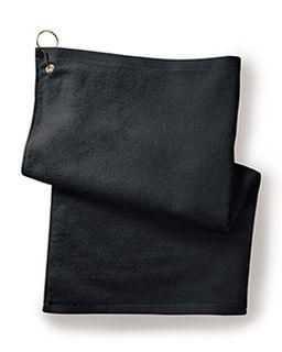 Deluxe hemmed Hand towel With Corner Grommet And Hook-Towels Plus
