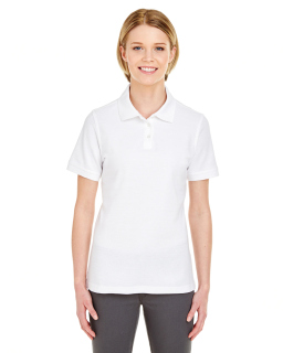 Ladies Platinum Honeycomb Pique Polo-