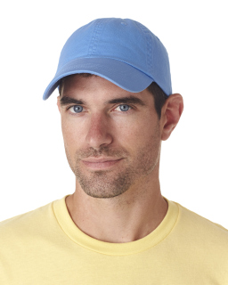 Adult Classic Cut Chino Cotton Twill Unstructured Cap-UltraClub