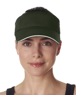 Adult Classic Cut Brushed Cotton Twill Sandwich Visor-UltraClub