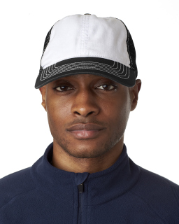 Adult Classic Cut Brushed Cotton Twill Unstructured Trucker Cap-