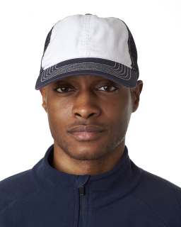Adult Classic Cut Brushed Cotton Twill Unstructured Trucker Cap-UltraClub