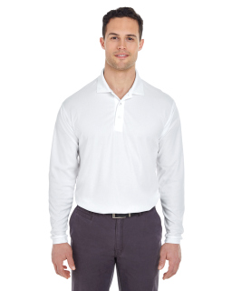 Adult Cool & Dry Long-Sleeve Mesh pique Polo-UltraClub
