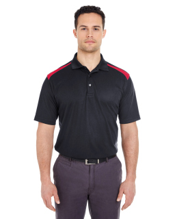 Adult Cool & Dry Two-Tone Mesh Pique Polo-UltraClub