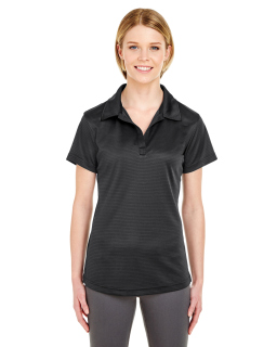 Ladies Cool & Dry Jacquard Stripe Polo-UltraClub