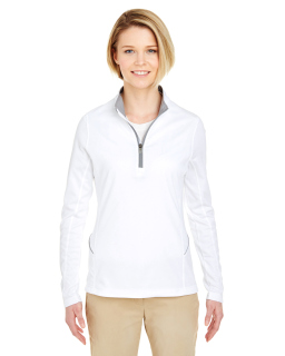Ladies Cool & Dry Sport Quarter-Zip Pullover-UltraClub