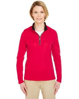 Ladies Cool & Dry Sport Quarter-Zip Pullover-