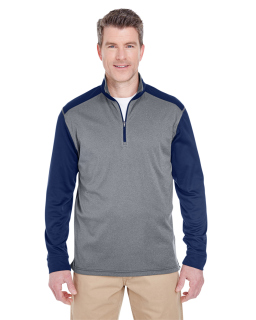 Adult Cool & Dry Sport Two-Tone Quarter-Zip Pullover-UltraClub