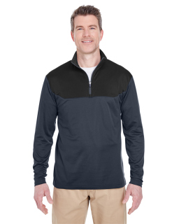 Adult Cool & Dry Sport Colorblock Quarter-Zip Pullover-UltraClub