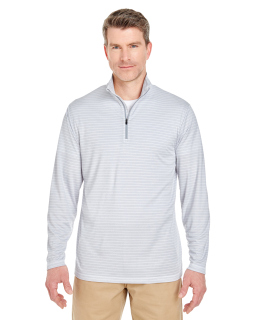 Adult Striped Quarter-Zip Pullover-UltraClub