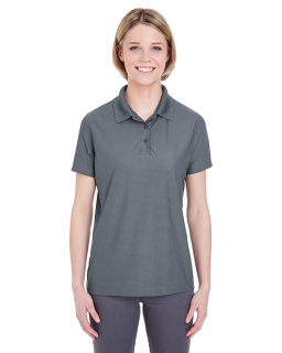 Ladies Cool & Dry Box Jacquard Performance Polo-UltraClub