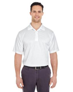 Mens Cool & Dry Elite Mini-Check Jacquard Polo-