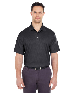 Mens Cool & Dry Elite Mini-Check Jacquard Polo-UltraClub