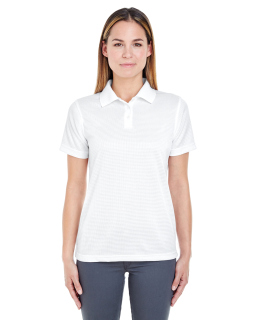 Ladies Cool & Dry Elite Mini-Check Jacquard Polo-