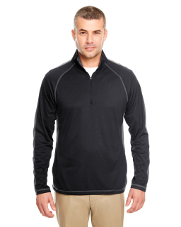 Adult Cool & Dry Sport Quarter-Zip Pullover With Side And Sleeve Panels-UltraClub