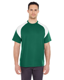 Adult Cool & Dry Sport Colorblock T-Shirt-UltraClub