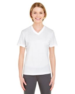 Ladies Cool & Dry Sport V-Neck T-Shirt-