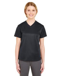 Ladies Cool & Dry Sport V-Neck T-Shirt-