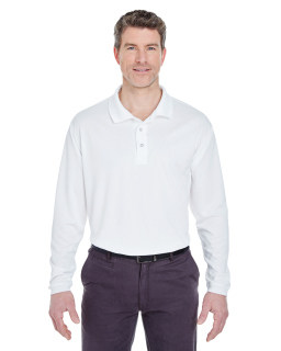 Adult Cool & Dry Sport Long-Sleeve Polo-UltraClub