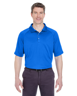 Adult Cool & Dry Sport Shoulder Block Polo-UltraClub