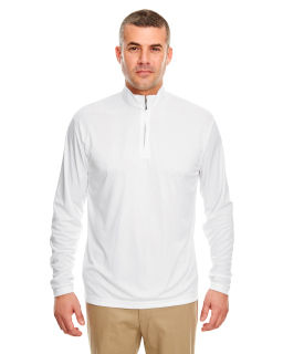 Mens Cool & Dry Sport Performance Interlock Quarter-Zip Pullover-UltraClub