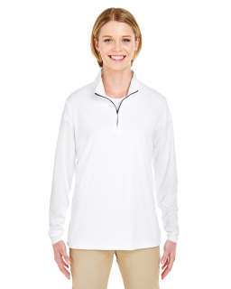 Ladies Cool & Dry Sport Performance Interlock Quarter-Zip Pullover-UltraClub