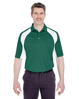 Adult Cool & Dry Sport Performance Colorblock Interlock Polo-UltraClub