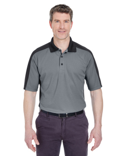 Adult Cool & Dry Stain-Release Two-Tone Performance Polo-UltraClub