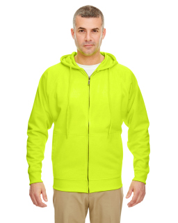 Adult Rugged Wear Thermal-Lined Full-Zip Fleece Hooded Sweatshirt-