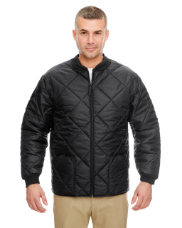 Adult Puffy Workwear Jacket With Quilted Lining-