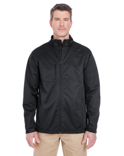 Mens Solid Soft Shell Jacket-UltraClub