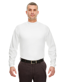 Adult Egyptian Interlock Long-Sleeve Mock Turtleneck-