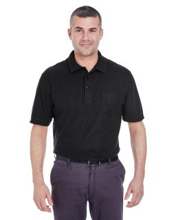 Adult Whisper Pique Polo With Pocket-